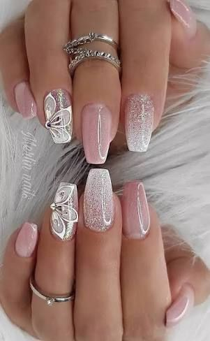 Cute girlish nails for you