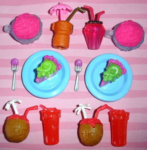 Lot Monster High Doll Size Food Drink Items For Scaris
