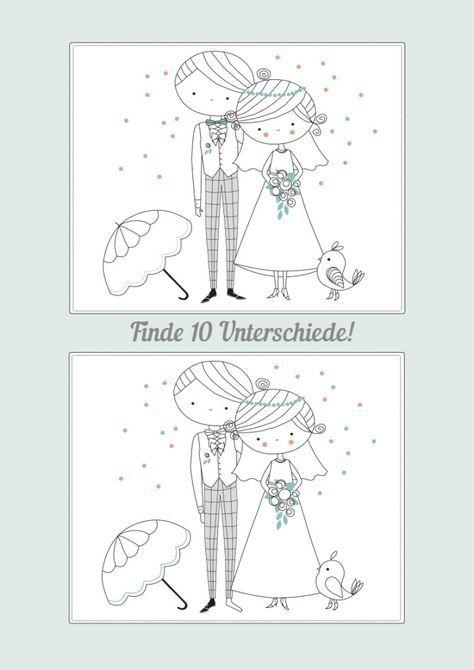 Hochzeitsmalbuch zum Ausdrucken – Kostenloser Download #weddingplanning