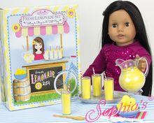 Lemonade Set for 18 Inch Dolls in Decorative Window Box