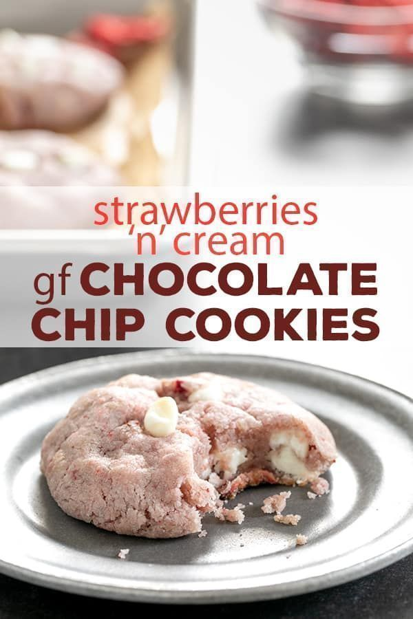 Strawberry Gluten Free Chocolate Chip Cookies #freezedriedstrawberries These natural strawberry gluten free chocolate chip cookies are made with white chocolate chips and freeze-dried strawberries—and no cake mix! #glutenfree #gf #cookies #chocolatechip #strawberry #freezedriedstrawberries Strawberry Gluten Free Chocolate Chip Cookies #freezedriedstrawberries These natural strawberry gluten free chocolate chip cookies are made with white chocolate chips and freeze-dried strawberries—and no c #freezedriedstrawberries