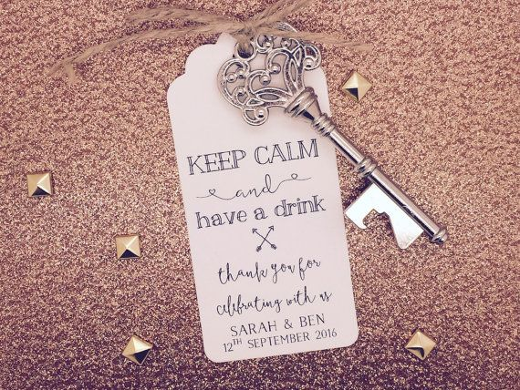 Personalised Skeleton Key Bottle Beer Opener Wedding Favor Gift Tag Label Wedding Bottle Opener Favors Wedding Favor Gift Tags Beer Opener Wedding Favor