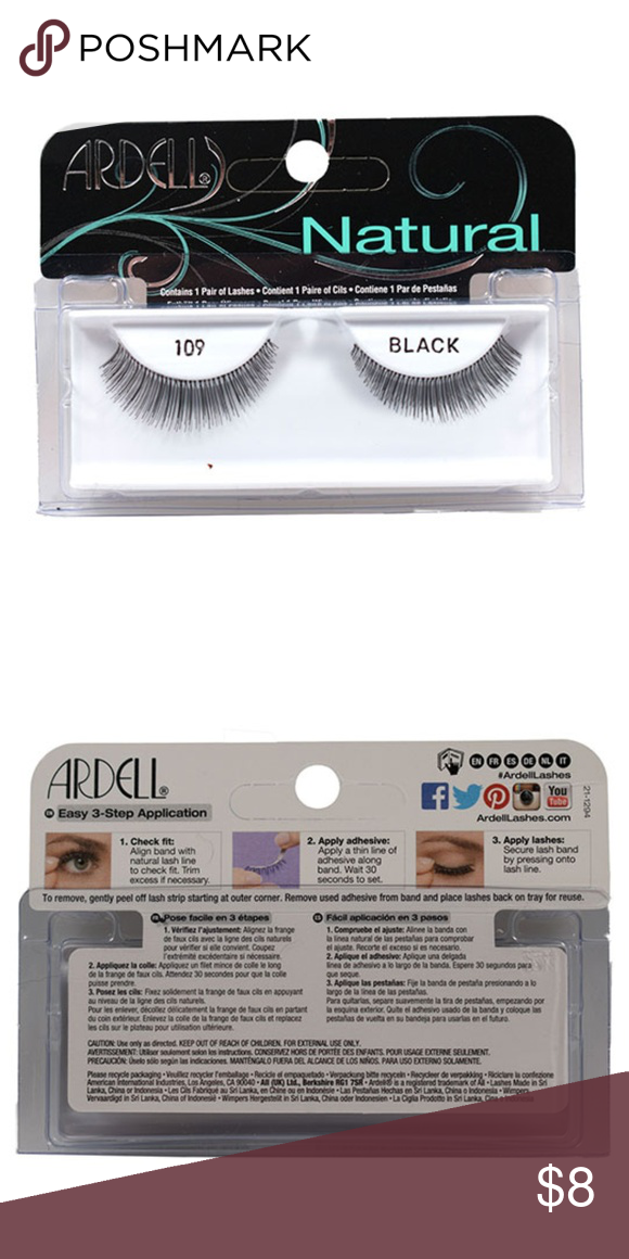 d7616ddfb50 Ardell Natural Lash Black 109 1 Pair Contains 1 pair of lashes. Easy to  apply