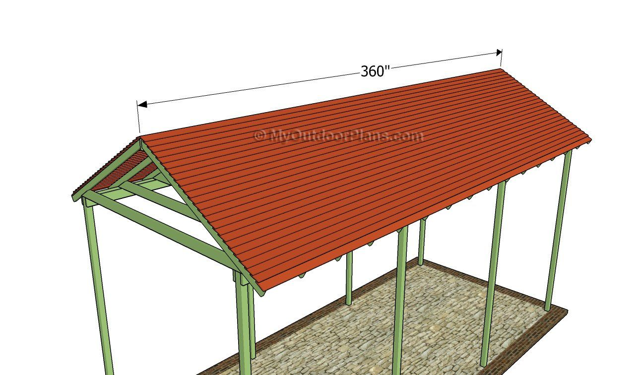 Installing the roofing slats in 2020 Carport plans, Rv