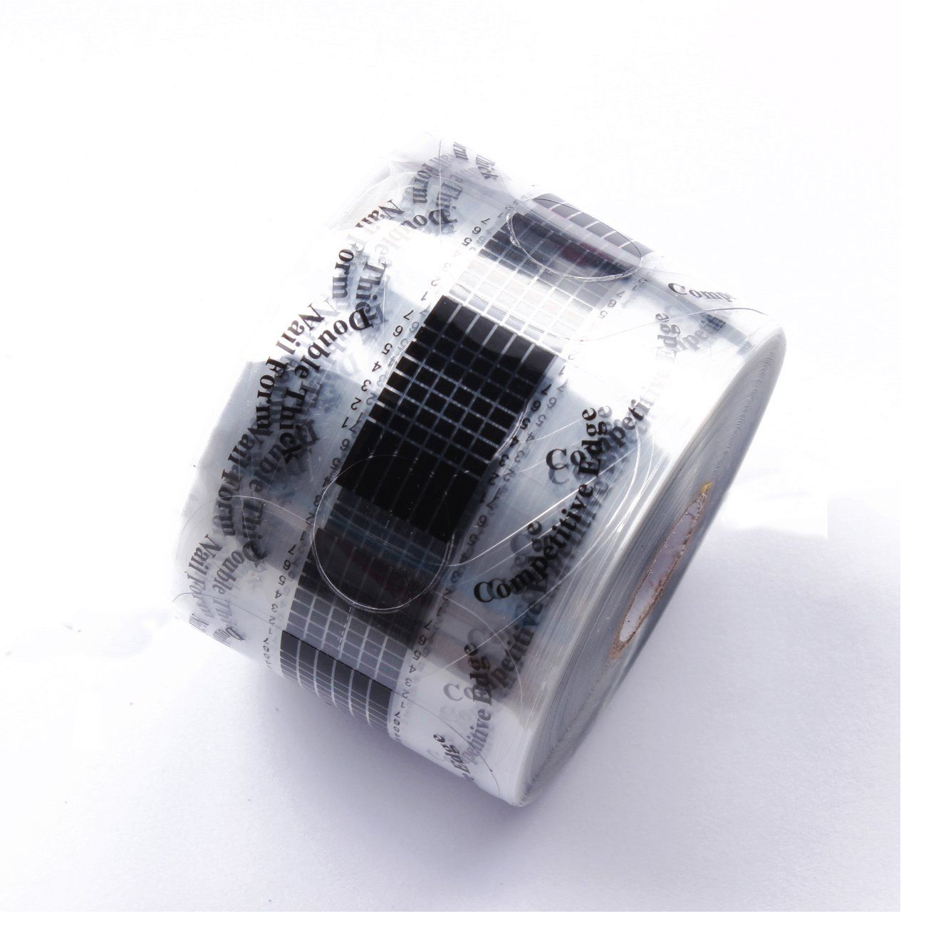 Beauty Leader 500 Pcs/Roll Nail Form Stickers Black Clear