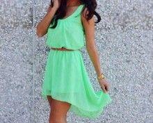 Korte jurk met lange achterkant