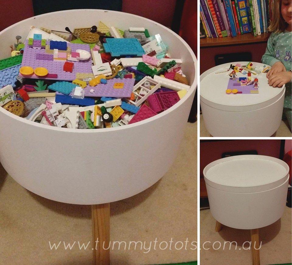 Kmart Hacks Lego Table Kmart Decor Kids Storage Kids Room