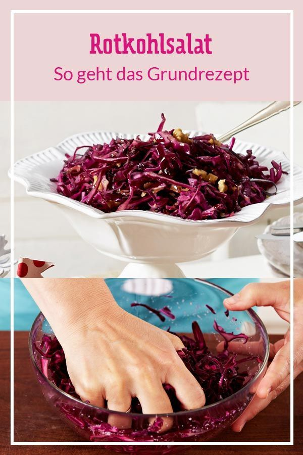 Photo of Red cabbage salad – basic recipe and great variations DELICIOUS