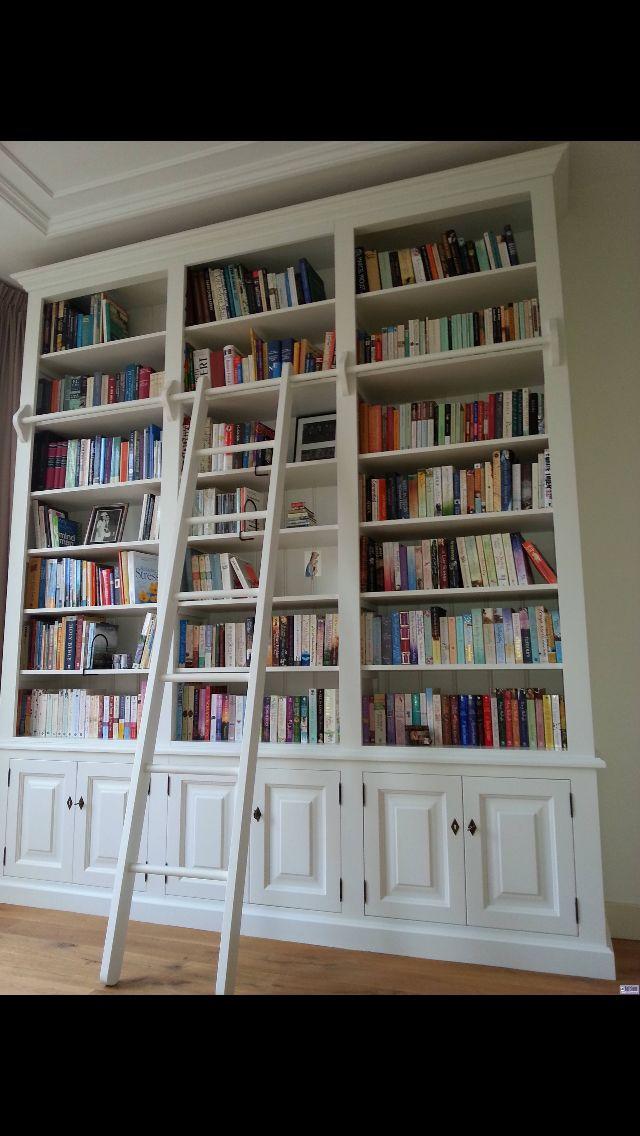 Bib Kast Met Ladder Home Library In 2019 Bookcase