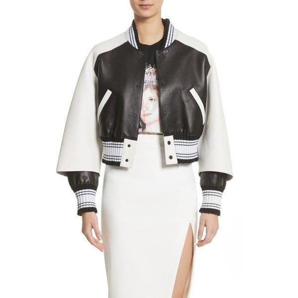 b2e5b6116b74 Women s Off-White Crop Varsity Jacket (18