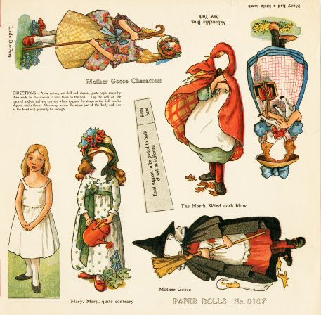 fairy tales paper doll