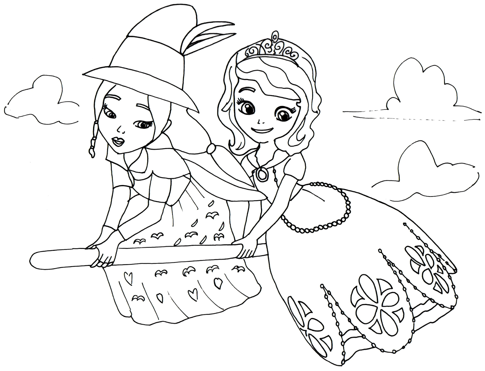sofia the first coloring pages lucinda