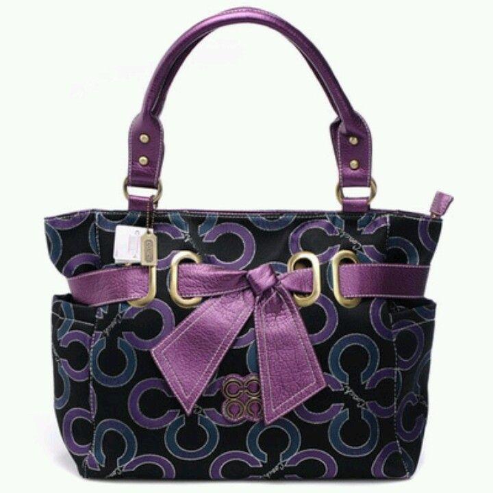 d8f19267e4b0 Purple coach purse