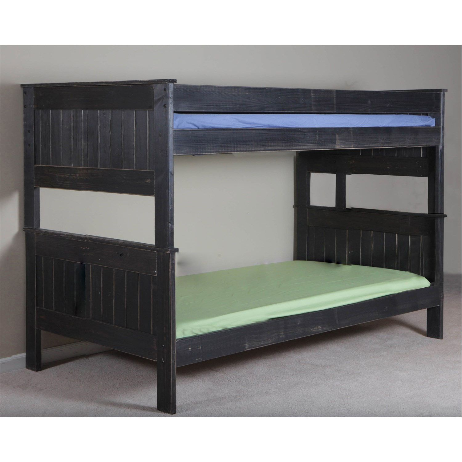 Chelsea Home Furniture 316013f Full Stackable Bunk Bed In Black Distressed