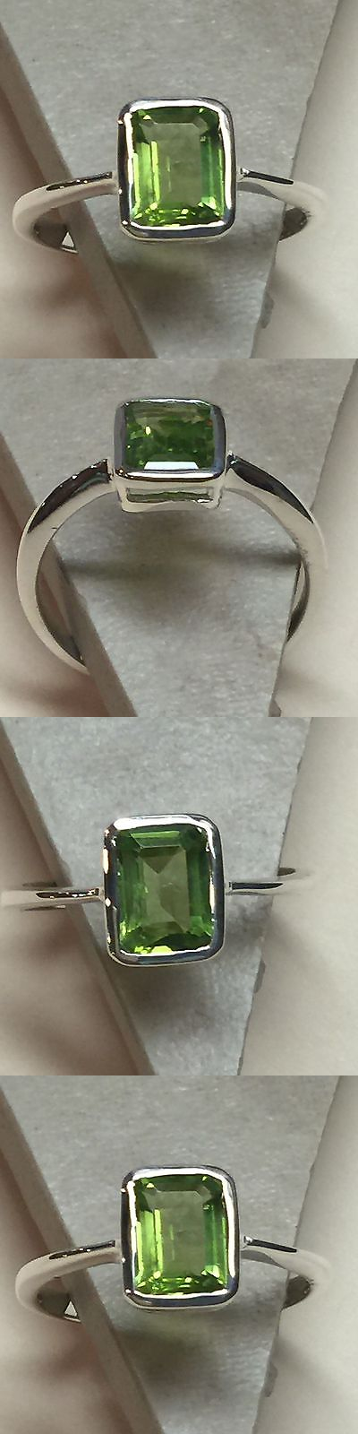 Gemstone 164343: Natural Emerald Cut 1Ct Peridot 925 Solid Sterling Silver Ring Sz 8 -> BUY IT NOW ONLY: $47.49 on eBay!