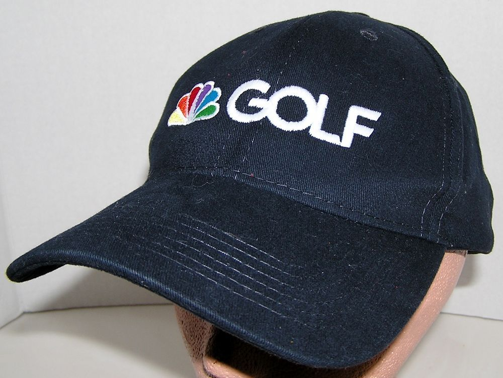 NBC Sports Golf Channel TV News Black Baseball Velcroback Hat Cap PGA Tour   PacificHeadwear  BaseballCap 5dd72e21d31