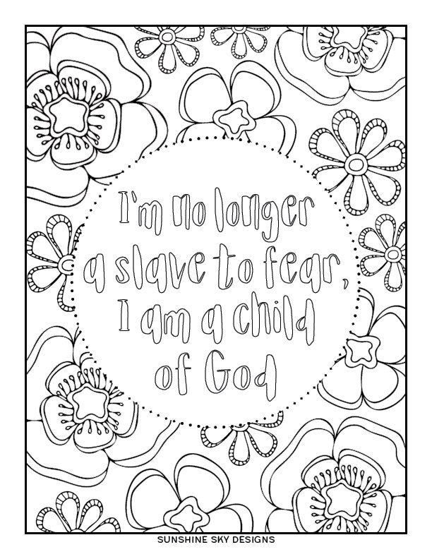 Child Of God Printable Coloring Page Christian Coloring Sheet