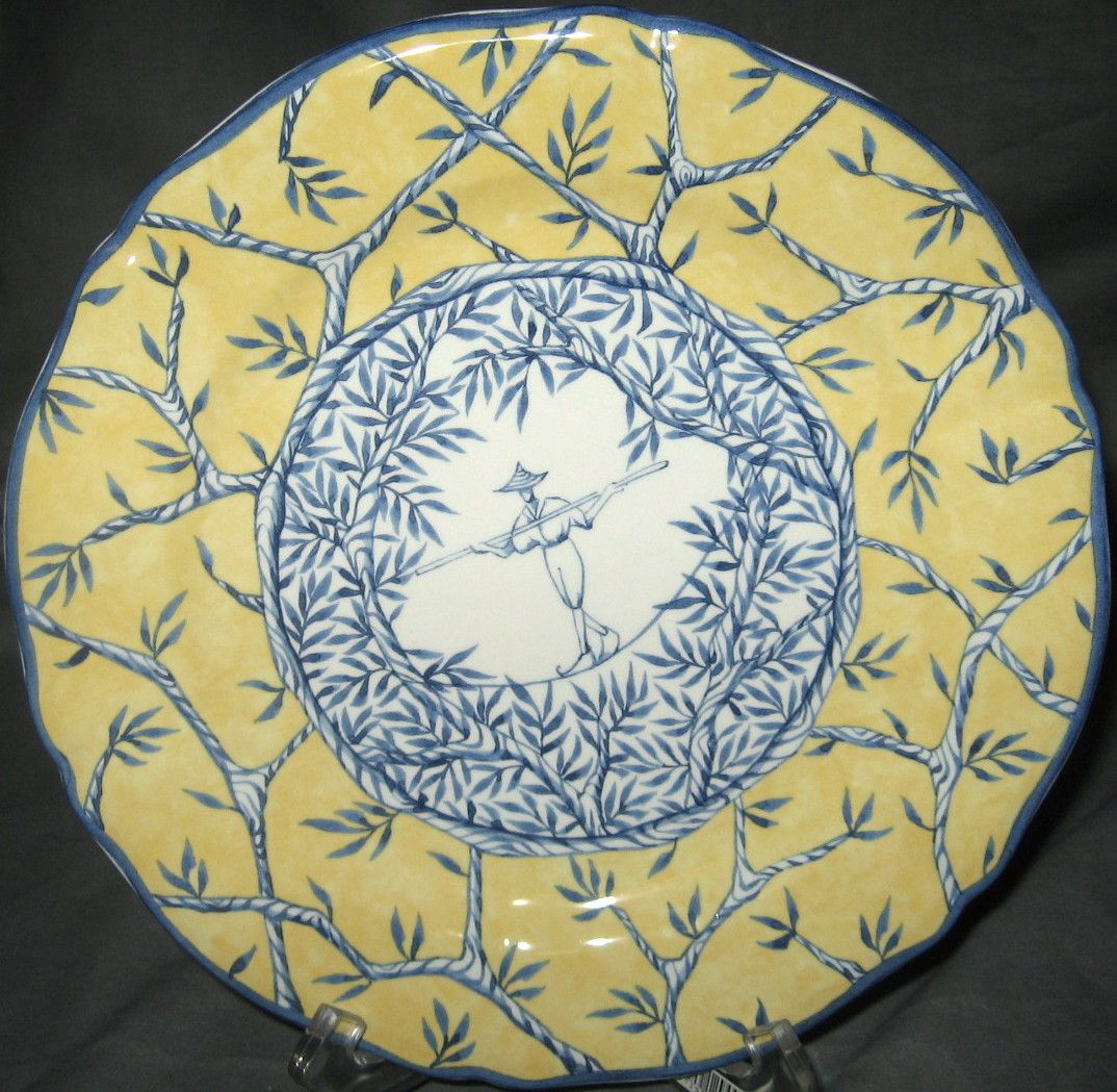 Gien Porcelain | China  Gien  Gien Baladins & Gien Baladins Salad Plate | Porcelain China and Dinner ware