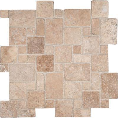 MSI Durango Random Sized Travertine Mosaic Tile in Beige