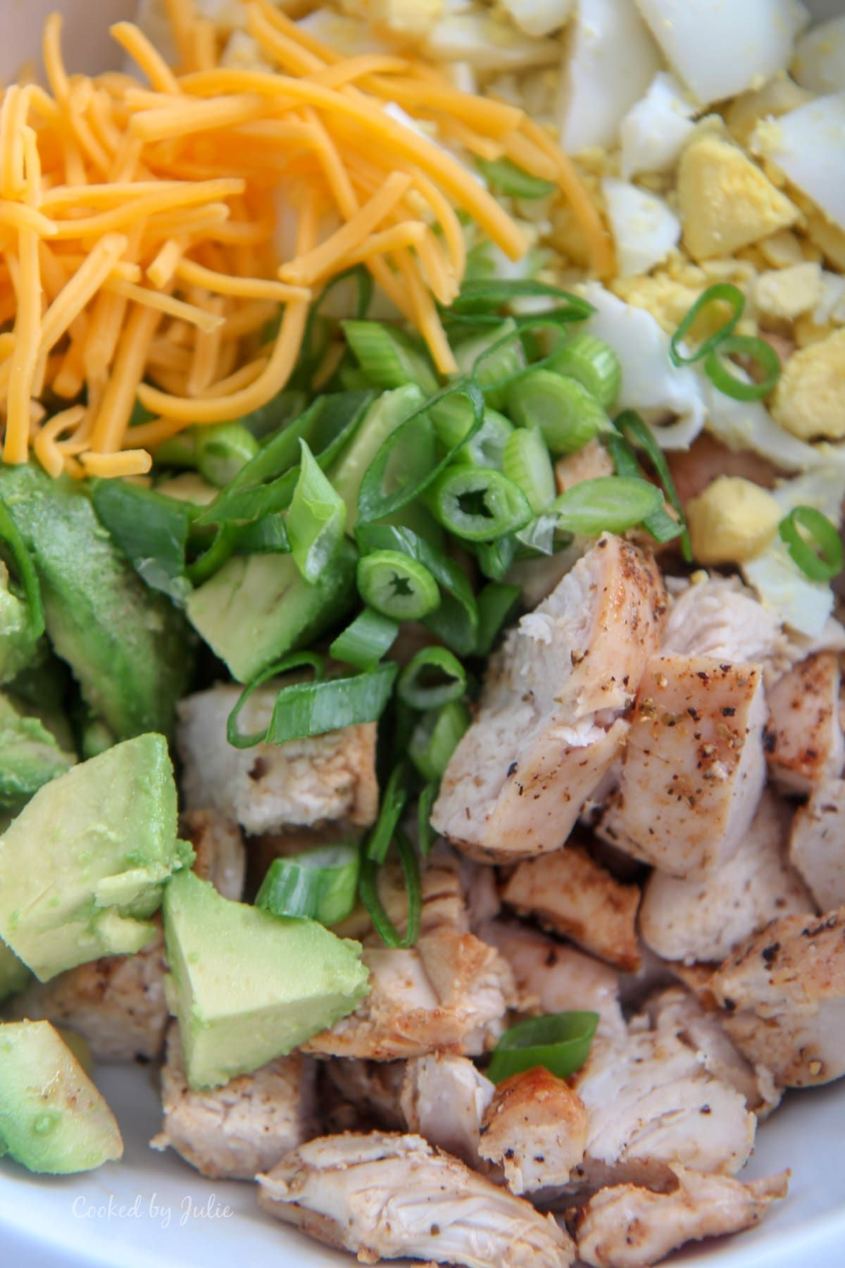 Avocado Chicken Salad (Low Carb) #ketofriendlysalads This avocado chicken salad is the perfect summer salad for picnics and potlucks! This is a Low Carb and Keto Friendly Salad but filled with flavor. #avocadosalad #ketosalad #ketofriendlysalads