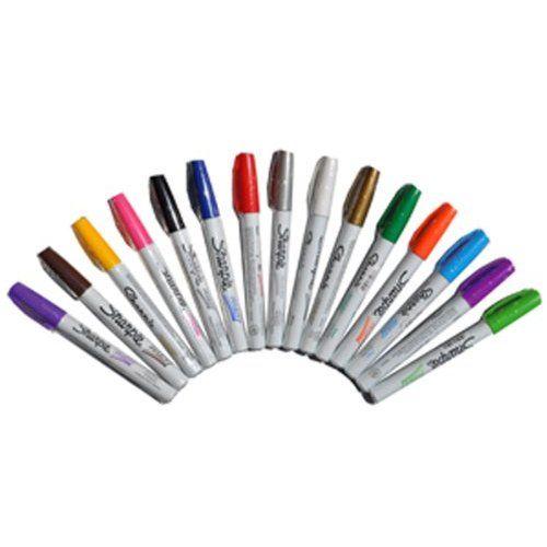 Sharpie Paint Marker Fine Point Oil Based All 15 Color Set