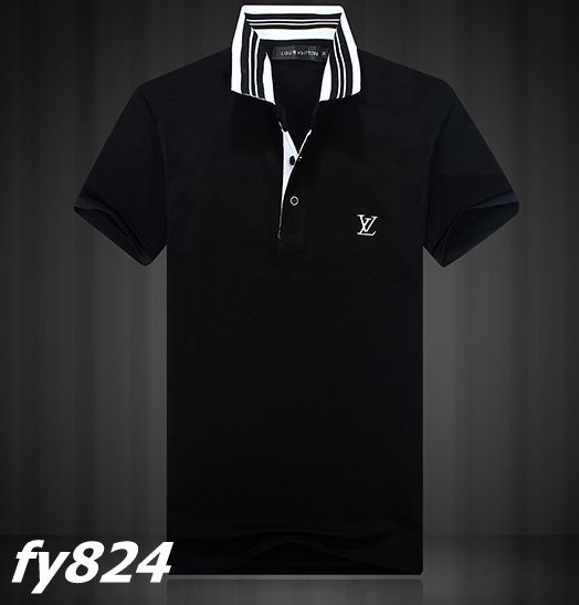 Cheap ralph lauren polo louis vuitton collar strip short for Cheap polo collar shirts