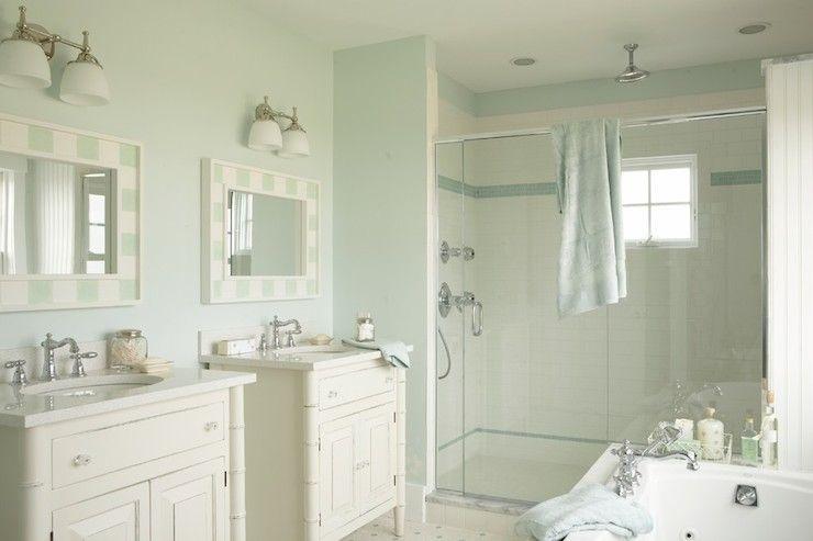 Seafoam Blue Paint Colors Cottage Bathroom Martha Stewart - Martha stewart bathroom colors