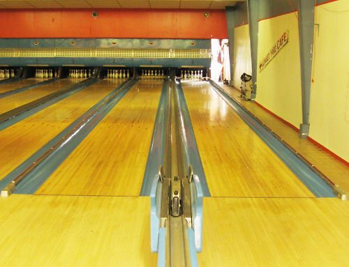 Vintage Bowling Lanes Gutters Pinsetters Ball Return Score Table Gutters Bowling Mid Century Modern