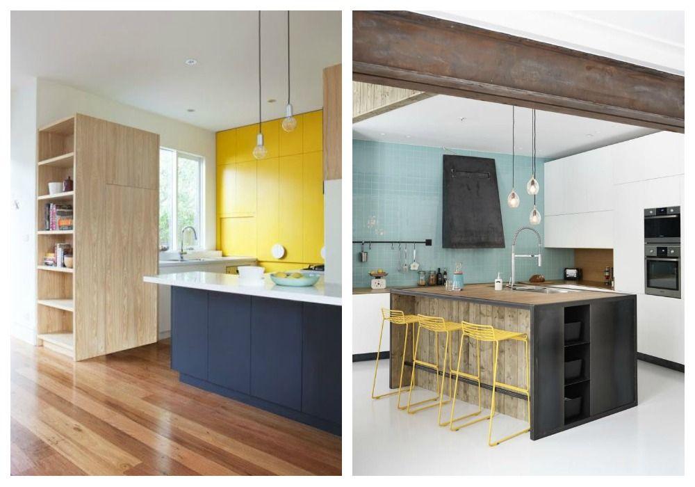 cocina-madera-colores