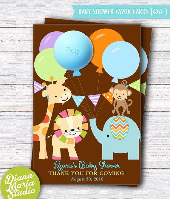 Safari Baby Shower Favors Eos Lip Balm Favor Card Template Safari Baby Shower Theme Printable Safari Baby Shower Favors Baby Shower Party Favors Baby Shower Safari Theme