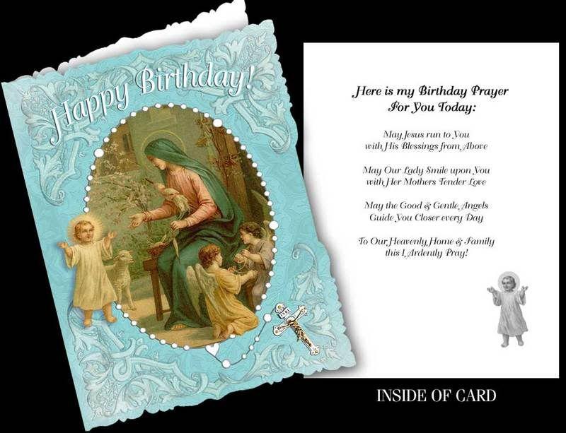 Beautiful Genuinely Catholic Happy Birthday Greeting Card Wenvelope
