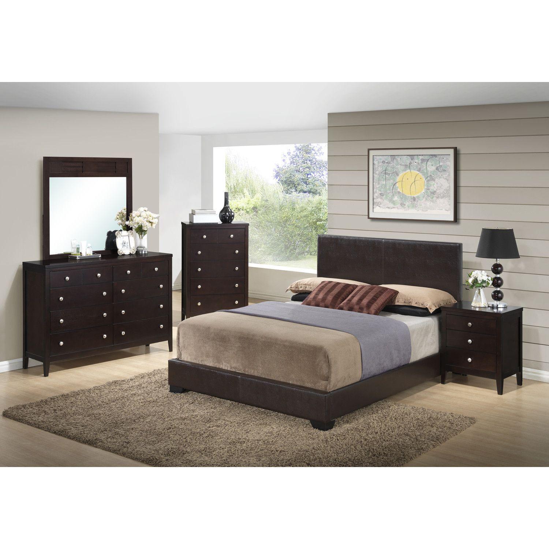 Global furniture usa lily panel customizable bedroom set u reviews