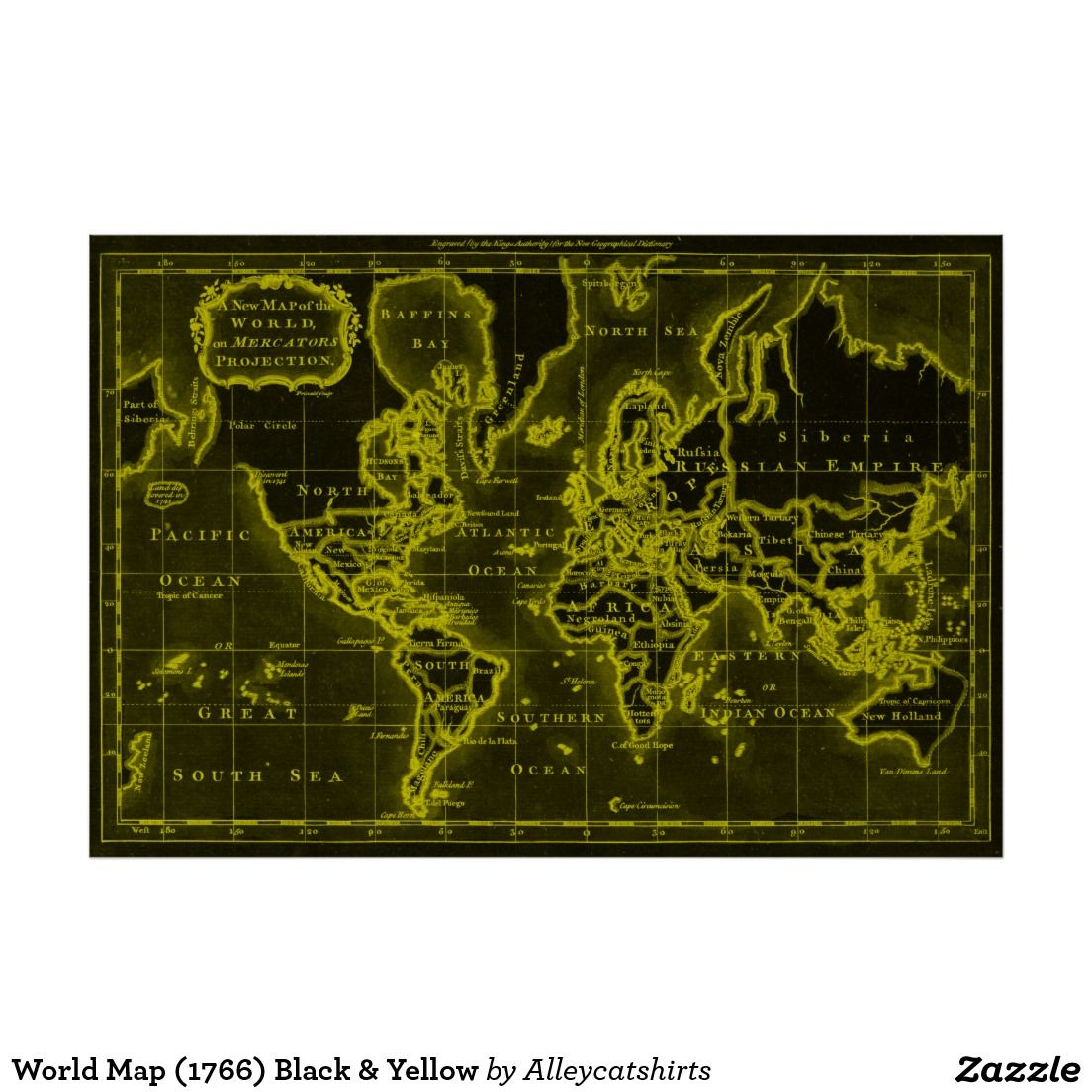World map 1766 black yellow poster colorful world maps world map 1766 black yellow poster gumiabroncs Image collections