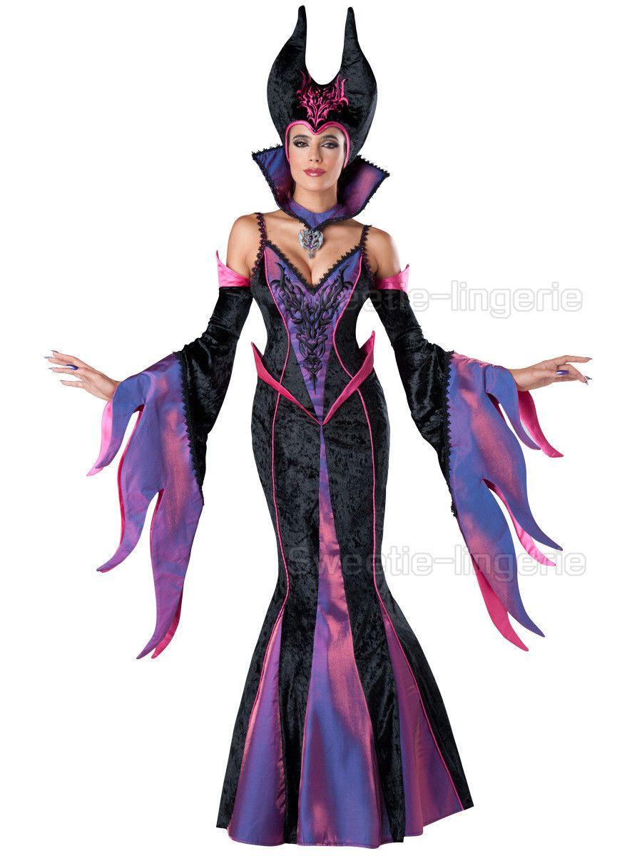 Sexy maléfica Cosplay Disfraces maléfica Evil Bruja disfraces de halloween  para las mujeres Púrpura adultos Vestidos de maléfica(China (Mainland)) 3339d702c6b7