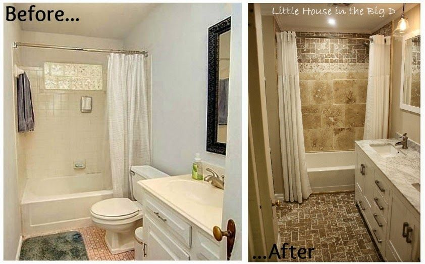 Bathroom Before And After small bathroom renovation before and after pictures