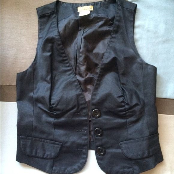 Black Vest You can almost wear it with any top! American Rag Other