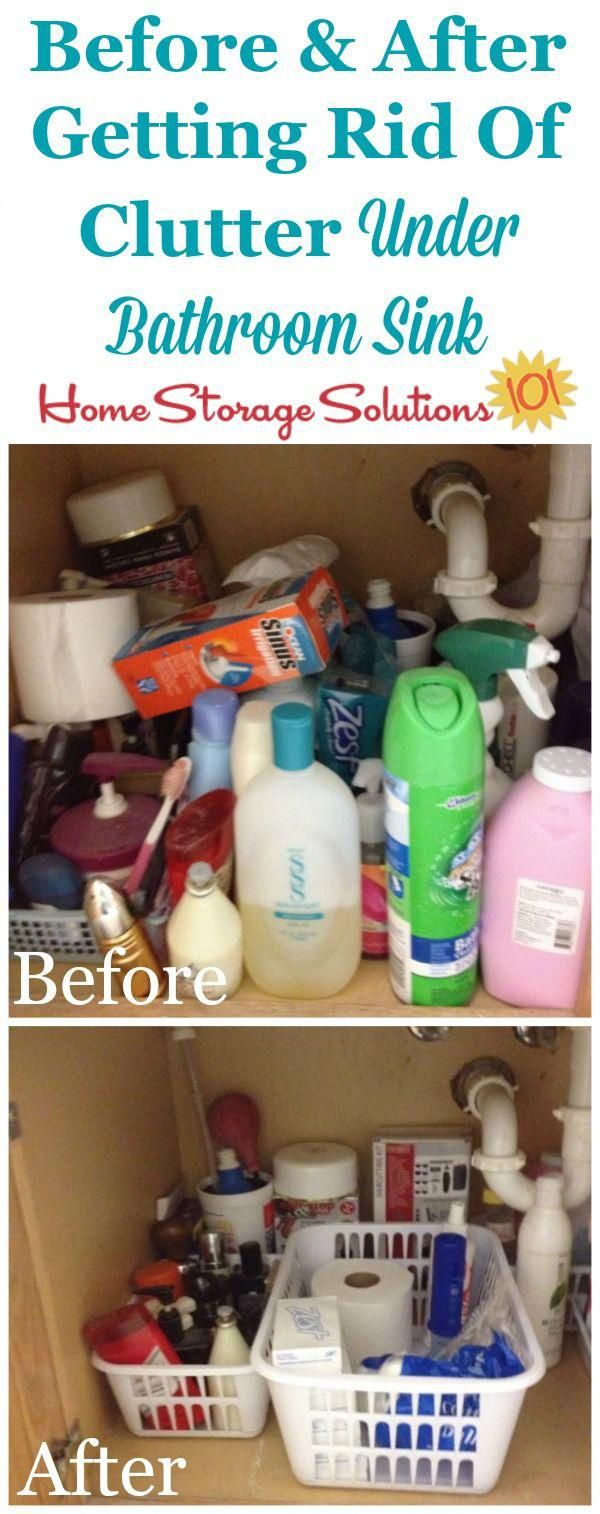 How To Get Rid Of Clutter Under Your Bathroom Sink, With