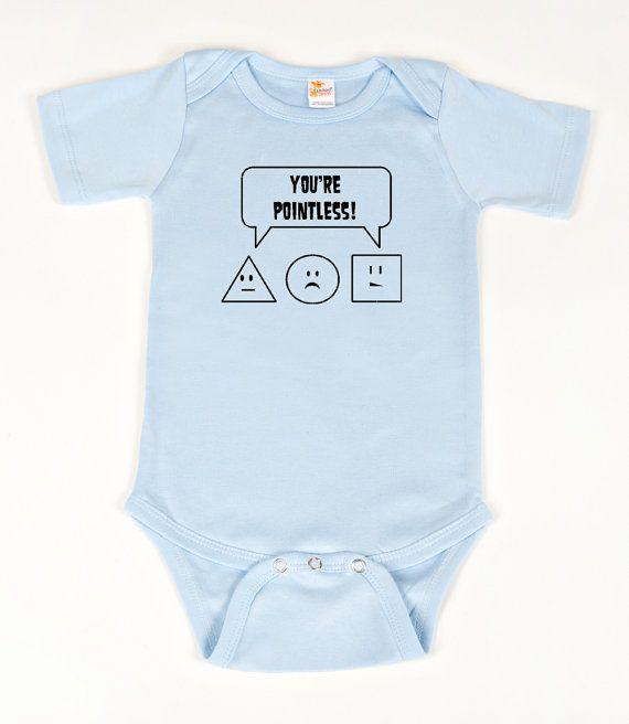 728c7389f #Math #geek #nerd onesie You're Pointless Blue by geeklingdesigns on #Etsy,  $18.00