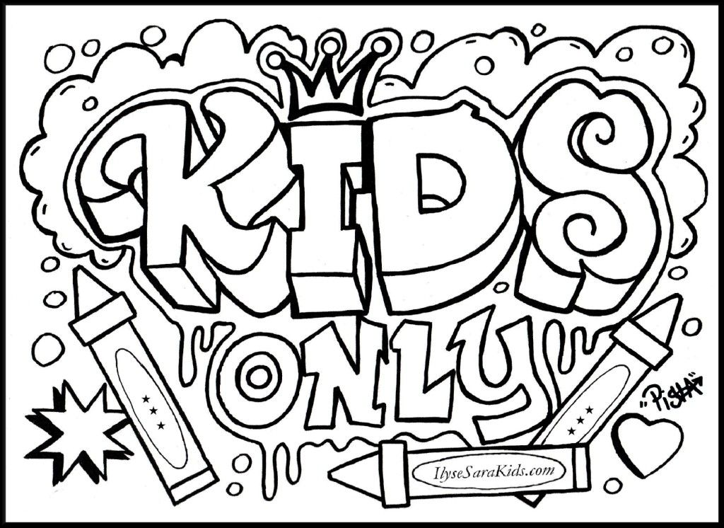 cool design coloring pages Graffiti