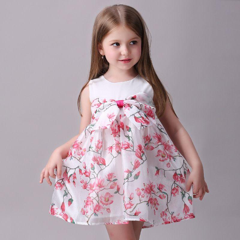 Summer Princess Kids Dresses For Girls Sleeveless Sundress Children Clothing