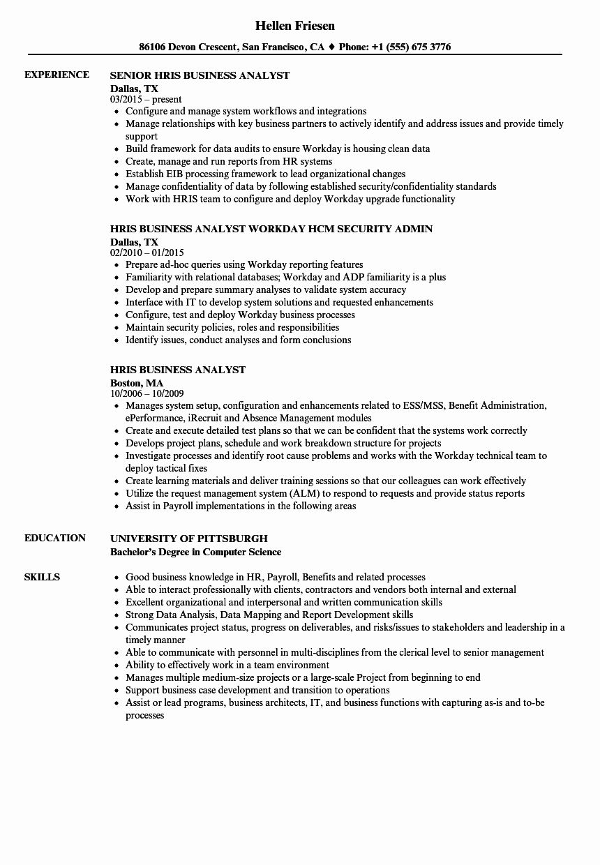 25 business analyst roles and responsibilities resume in