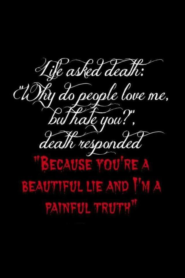 Death Quote Love Life  Quotes  Pinterest  Quote Wall