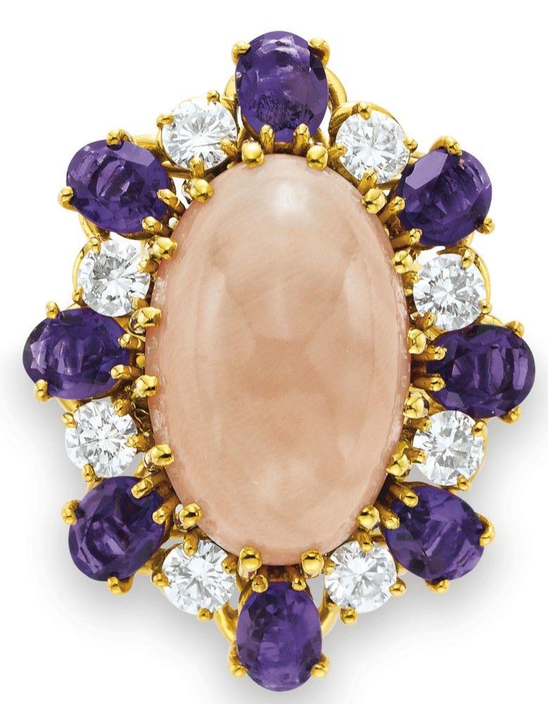 Coral, Amethyst & Diamond / Van Clef & Arpels / Elizabeth Taylor