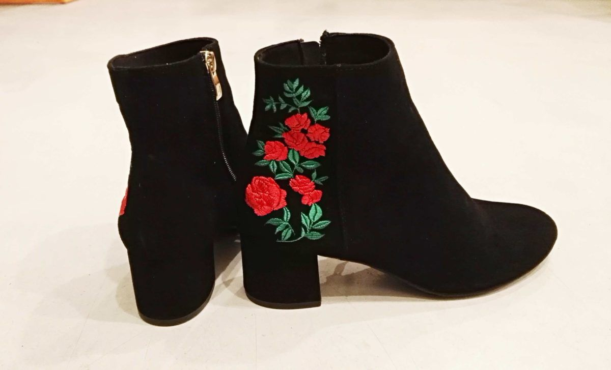 Botki Na Slupku Folk Ludowe Haftowane Shoes Shoe Bag Boots