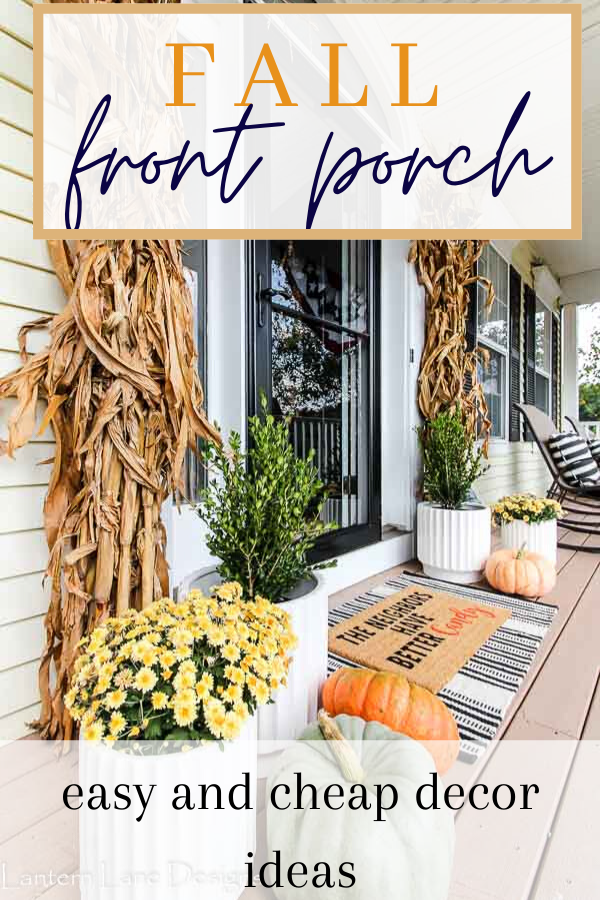 Come see how I decorated my front porch for fall and outdoor fall decorating ideas