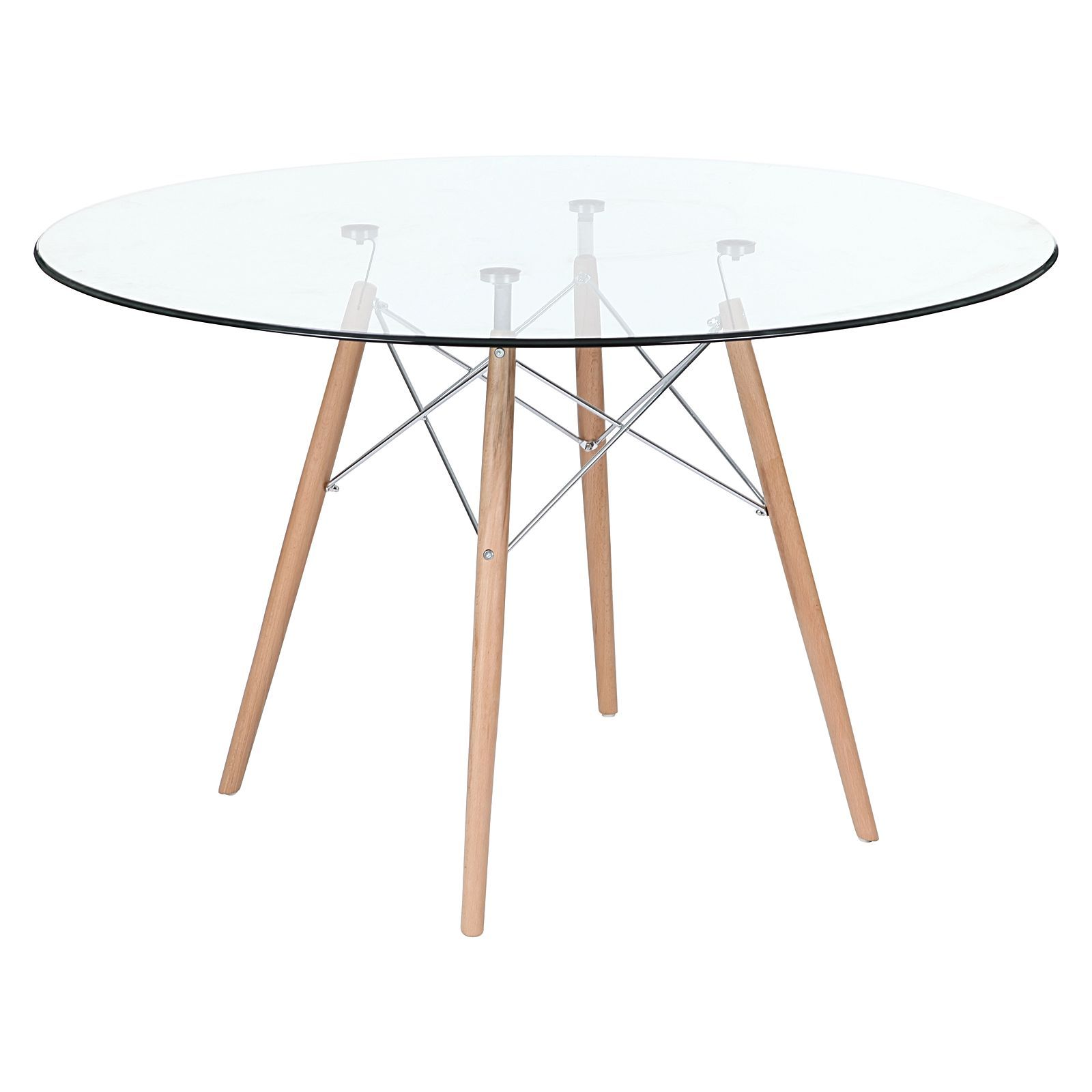 Replica Eames Eiffel Dsw Glass Dining Table By Replica Charles