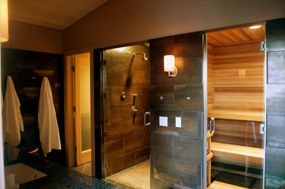 Gym Bathroom Designs Adorable Sauna Shower Combo In Bathroom Contemporary With Home Spa Home Gym Decorating Inspiration