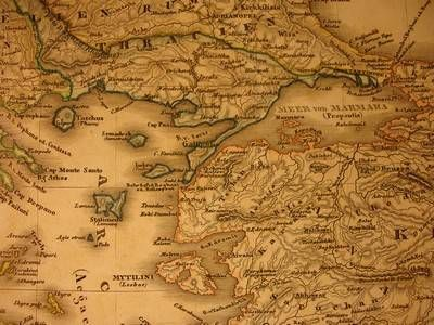 Old Map- Greece