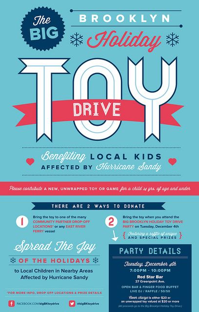 Brooklyn Toy Drive Poster By Me Drive Poster Food