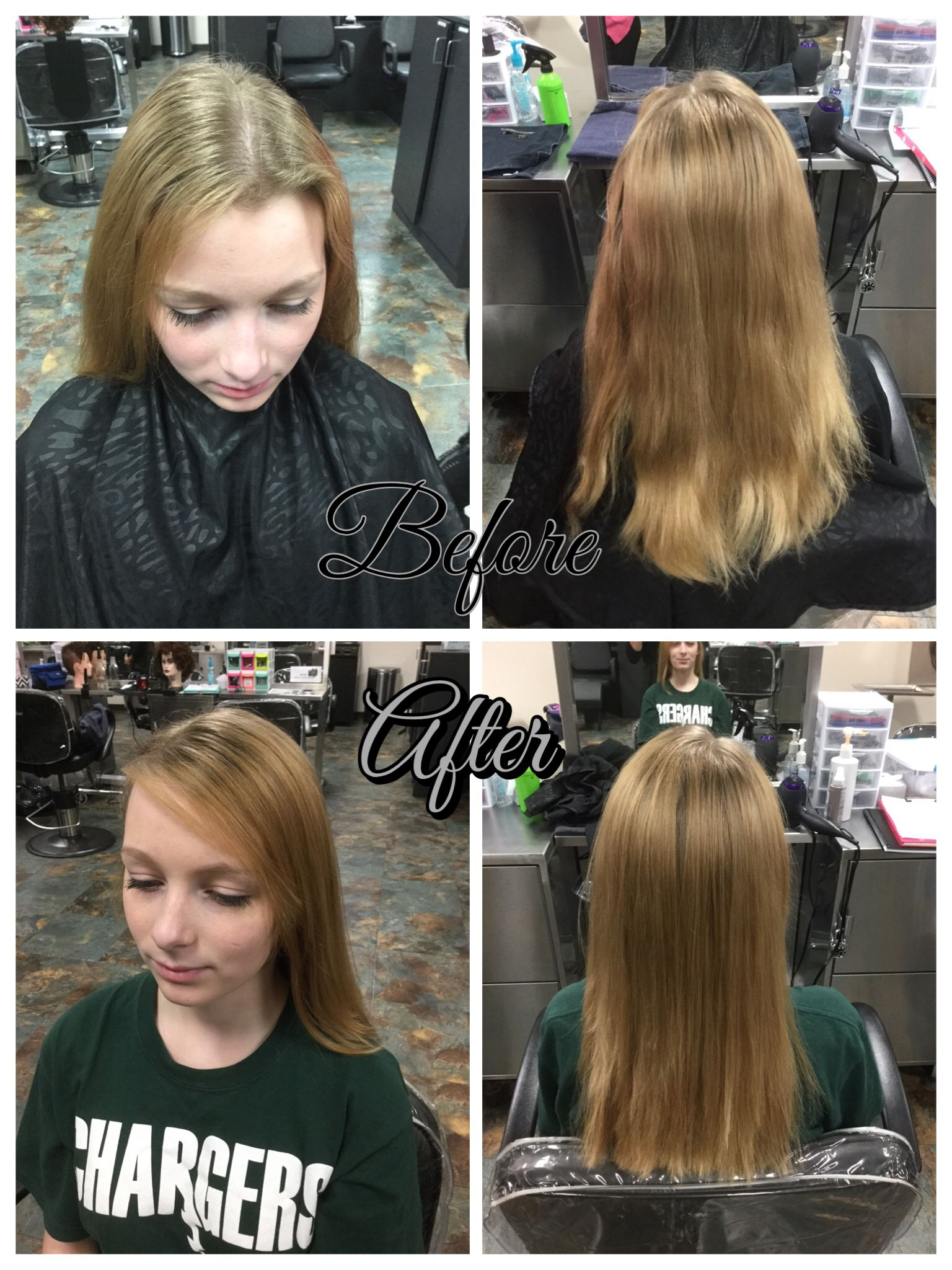 180 Haircut With Layers Starting Mid Neck Side Swept Bangs By